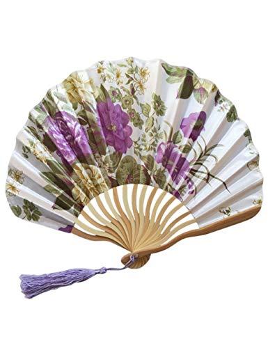 DSFH Abanico Plegable Bamboo Folding Hand Held Flower Fan Chinese Hand Held...
