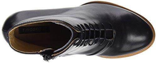 Neosens Damen S934 Restored Skin Ebony/Beba Kurzschaft Stiefel Schwarz (Ebony)