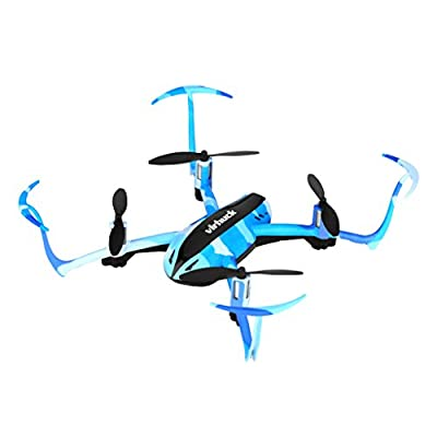 Virhuck T915 RC Drone Quadcopter 2.4 GHz 4CH 6AXIS GYRO System 3D Rotation 180/360-Degree Eversion Headless mode One Key Return Mode Gift Toy for Kids - Blue