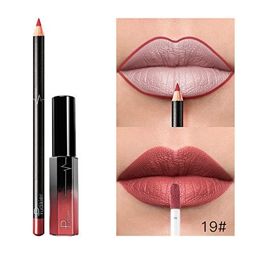 Neue Double-End Multifunktions Dauerhafte Lipliner Wasserdicht Lip Liner Stick Bleistift 36 Farbe...