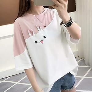 ZHOUBIANREN Camiseta T-Shirt Versión Coreana