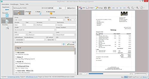 EasyFirma 2 Standard - Rechnungsprogramm, Angebote, Kundenverwaltung