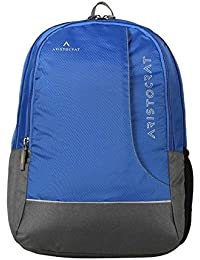 Aristocrat Zing Fabric 25 Ltrs Blue Laptop Backpack (LPBPZIN3BLU)