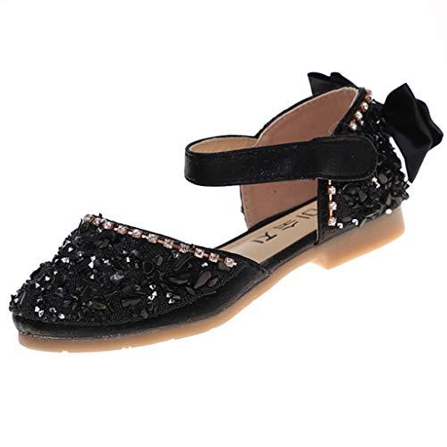Precioul Kinder Mädchen Strass Bow Show Tanzschuhe Prinzessin Schuhe Sandalen Mary Jane Halbschuhe Prinzessin Schuhe Pailletten Temperament, Schönheit (Spanische Schönheit Mädchen Kostüme)