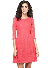 "Pink (Paisley Print) Net ""A"" Line Dress"