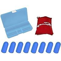 cobalto®: tappi per le orecchie, custodia protettiva in blu–per ridurre rumore e suono, orecchio spina (Cobalt Blue Led)