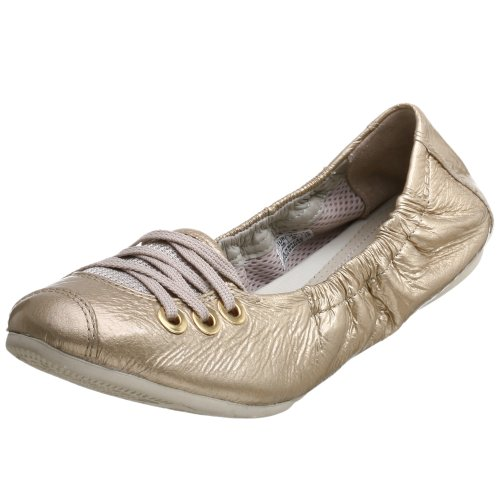 Geox Lacklederballerinas Ballerinas Lackleder Damenschuhe D Noah T Gold