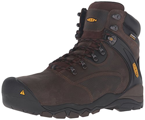 KEEN Utility Men's Louisville 6 Steel Toe Cascade Brown Boot 9.5 EE - Wide Usa Steel Toe Boots