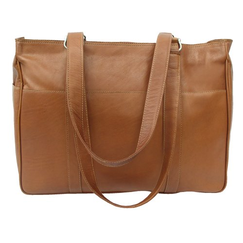 Piel Leather Medium Sac de shopping, chocolat, One Size Saddle