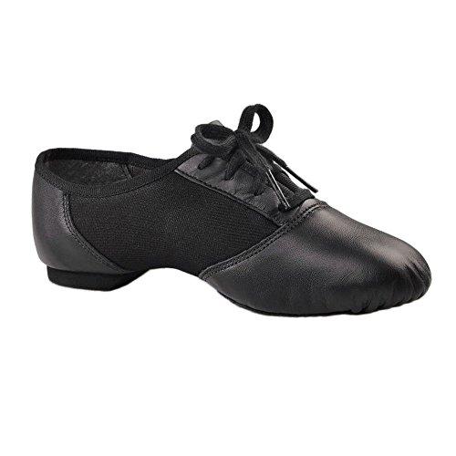 Chaussons de jazz à semelle partagée caoutchouc Capezio 458 Noir