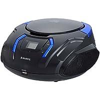 Majestic ah225 nero azzurro stereo lettore cd mp3 portatile ingresso usb aux