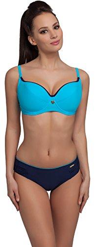 aQuarilla Bikini Coordinati per Donna R3N2LL1 (Blu/Blu Marino, EU Cup 80G/Bottom 42 (IT 4G/48))