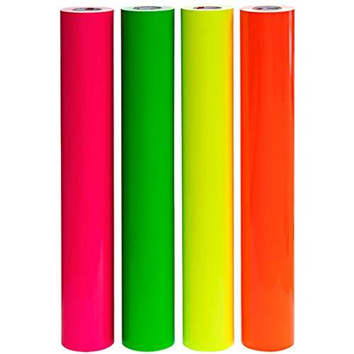 Finest Folia (EUR 18,99 / m²) Neon Plotterfolie Oracal 6510 Fluorescent Orafol (Neon Gelb 29, 100 x 63 cm)