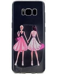 Samsung Galaxy S8 Coque, Samsung Galaxy S8 Housse, Samsung Galaxy S8 Etui,BONROY® Série d'été Ultra-Mince Thin Soft Silicone Etui de Protection pour Souple Gel TPU Bumper Poussiere Resistance Anti-Scratch Case Cover Couverture Pour Samsung Galaxy S8 - Girlfriends