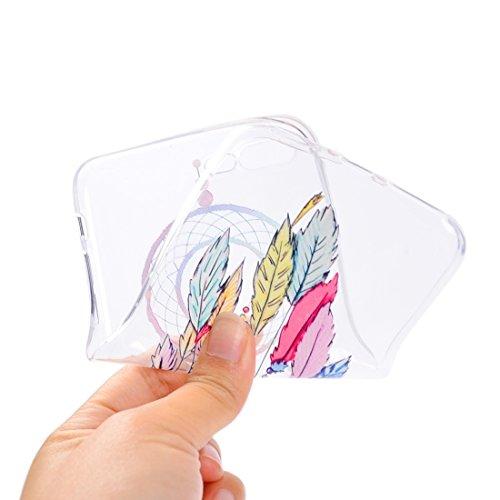 Wkae Bunte blaue Blumenmuster Soft TPU Schutzhülle für iPhone 7 Plus ( SKU : Ip7p5010f ) Ip7p5010e