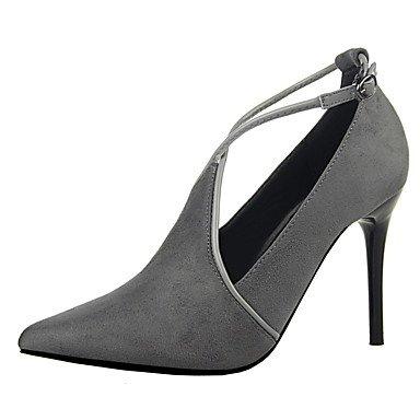 Moda Donna Sandali Sexy donna tacchi Primavera / Estate / Autunno vello piattaforma Party & Sera / Casual Stiletto Heel nero / rosso / grigio chiaro / mandorla / Burgundy / kaki Burgundy