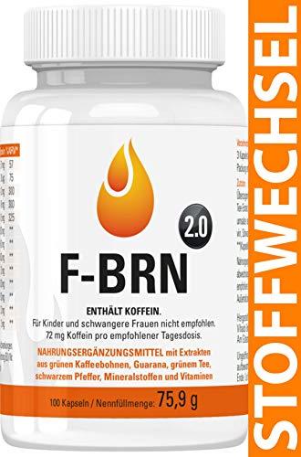 Vihado F-BRN 2.0 - Stoffwechsel Komplex Kapseln, Booster für Frauen und Männer mit Grüner Kaffee Extrakt, Grüner Tee Extrakt, Guarana, Vitamine, 100 Kapseln