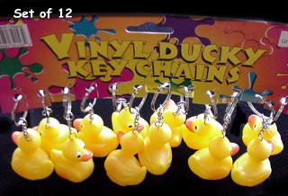 Rubber Duck Ducky Duckie Keychains Baby Shower Birthday Party Favors, 2