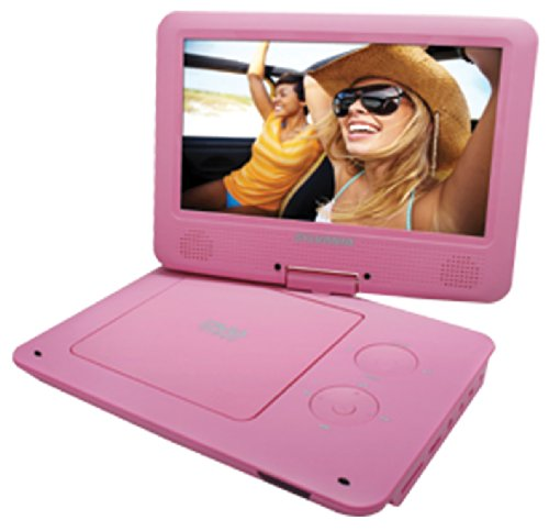 """SYLVANIA SDVD9020B-PINK 9"""""""" Portable DVD Players with 5-Hour Battery (Pink)"""