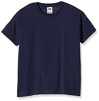 Fruit Of The Loom Childrens Valueweight T-Shirt - Navy - size 1-2