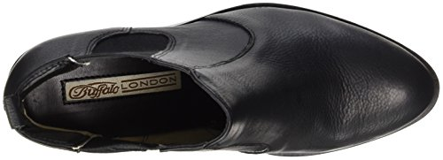 Buffalo London 416-7044 Indios Leather, Stivali Chelsea Donna Nero (Black 01)