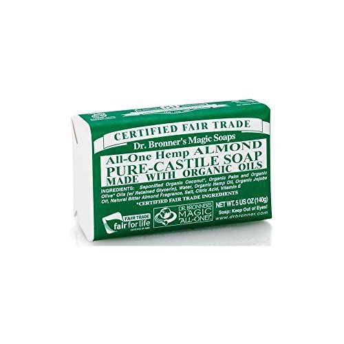 Dr Bronner'S | Almond Pure Castile Bar Soap | 1 x 140g -