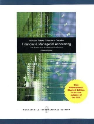 Financial & Managerial Accounting por Jan Williams