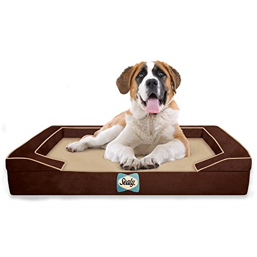 Sealy Lux 4-lagiges Orthopädisches Hundebett mit Kühlgel,