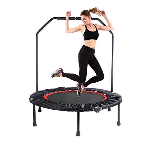 Fitness-Trampolin, tragbares & faltbares Trampolin mit Lenker, leiser und sicherer Sprungkraft für Kinder Erwachsene Home Aerobic Indoor/Garten/Workout Cardio