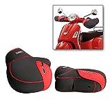 Manoplas Bar Muffs Guantes de Moto Scooter Invierno Manillar Protector Impermeable a Prueba de Viento Caliente Moto (Rojo)