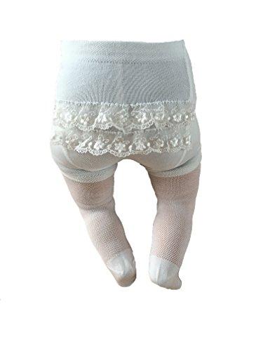 Chicco Mädchen Strumpfhose mit Rüschen Taufe Ivory (68/74) - Feinstrumpfhose Baby