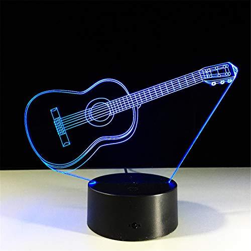 3D Guitarras Luz Nocturna Con Llavero Acrílico 7