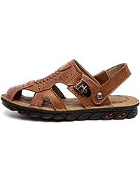 GLTER Slip On Casual Shoes 2017 Été Nouveaux hommes Chaussures en cuir Mode Chaussures de sport en plein air Chaussons à double usage Chaussures étanches en plein air