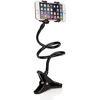 9c3c3d7a37c Daorier Universel 360 ° Lazy Housse Support Table Lit Flexible Col de Cygne  Bras de Fixation pour Téléphone Portable pour Samsung iPhone 7 6 5S SE 5 4S 4  ...