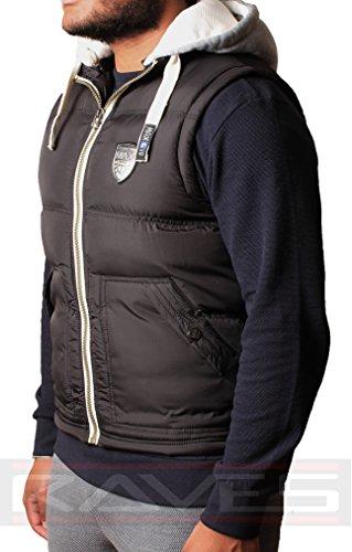 Gilet à capuche sans manches pour homme max veste vM2111 bouillotte edition Noir - Noir