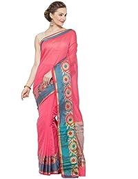 KVS FAB Coral_Pink & Blue Colour Cotton Silk Saree(KVSSR21021SHIMAYA_2)