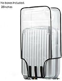 Futurelast - Funda protectora para maletas de PVC (protección antipolvo, impermeable, resistente al agua), transparente