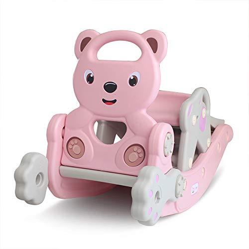 ZZKJCCF Baby Schaukelpferd, Kid Ride On Toy FüR 1-6 Jahre Alt, SäUgling (Boy Und Girl) Tier Rocker, Kleinkind/Child Ride Toy FüR Outdoor Indoor, Kindergarten Kind Geburtstagsgeschenk,Pink -