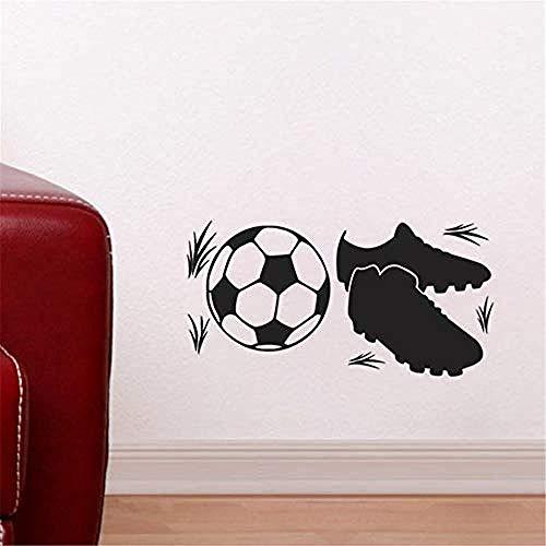Decorazione Da Parete In Vinile Ragazzo Calcio E Sport Scarpe Da Ginnastica Regalo Wall Art Sticker Staccabile 22x44cm