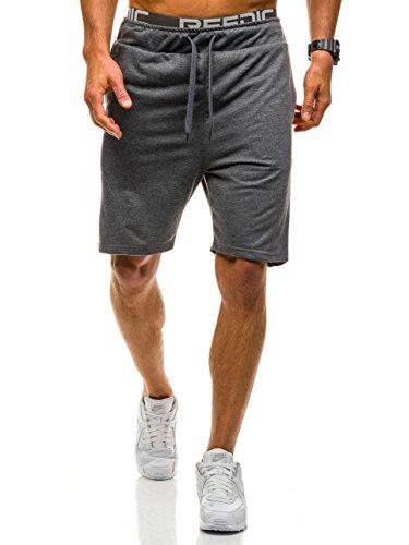 BOLF Herren Jogginghose Kurzhose Bermudas Shorts Trainingshose Sport 7G7 Motiv