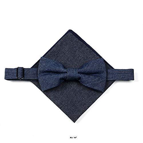 YUANLINGWEI Herren Hochzeitskleidung Plaid Fliege Pocket Pack, V