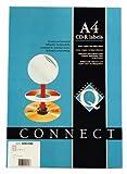 Q-Connect Etiqueta Adhesiva KF01579 -Tamaño Cd-Rom -Fotocopiadora -Láser -Ink-Jet-Caja Con 25 H/50 Etiquetas