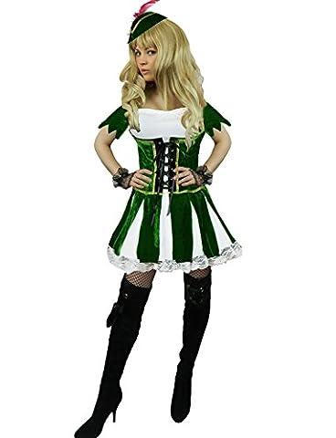 Yummy Bee - Deluxe Robin Hood Peter Pan Kostüm Damen Größe 34-46 (42-44) (Peter In Ein Pan-kostüm)