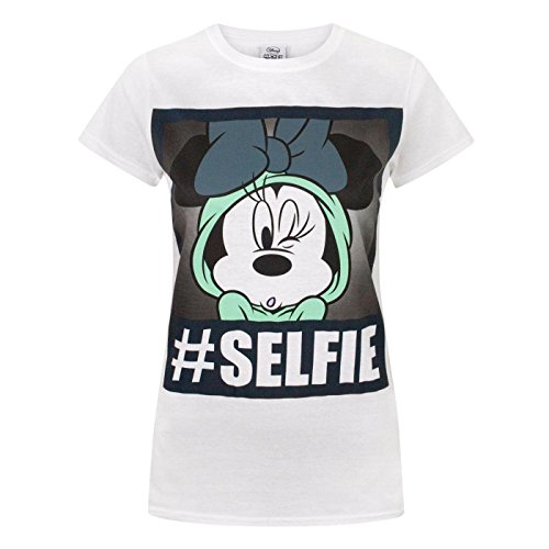 (Disney Minnie Mouse Selfie Womens T-Shirt (XL))