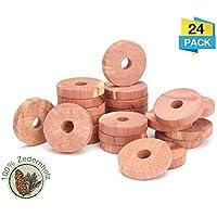 Zedernholzblöcke mit Metallhaken gegen Motten Zedernholz Mottenabwehr im 2er-Set