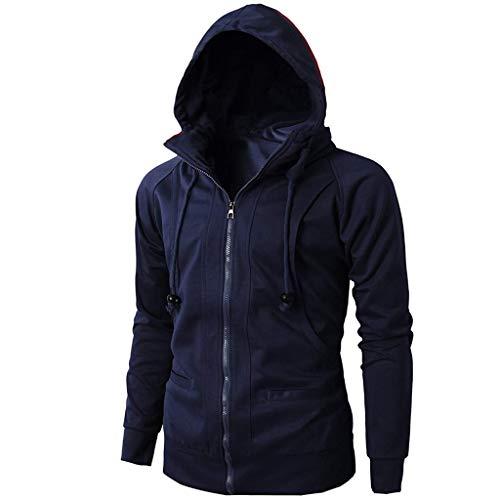 Maglione uomo cappotto inverno cerniera jacquard maniche lunghe felpa con cappuccio vello hoodie distintivo sweatshirt camicetta dolcevita classico tops qinsling