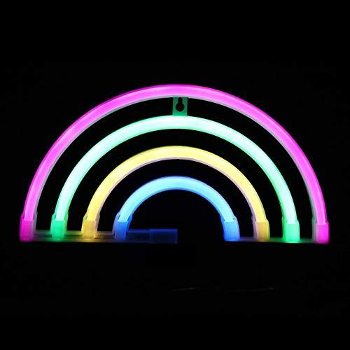 ORPERSIST Neon LED Forme Arc-en-Ciel Applique Lumineuse Veilleuse Décorative Festive Lights Anniversaire Cadeau Coffret Batterie Et Alimentation Bidirectionnelle USB
