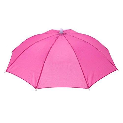 Für Kostüm Köpfe Rote - NELNISSA Nelissa Kopf-Regenschirm Angeln Anti-Sonnenschutz Wandern Unisex Hut Regenschirm Erwachsene Zubehör Kostüm Kleid, rot