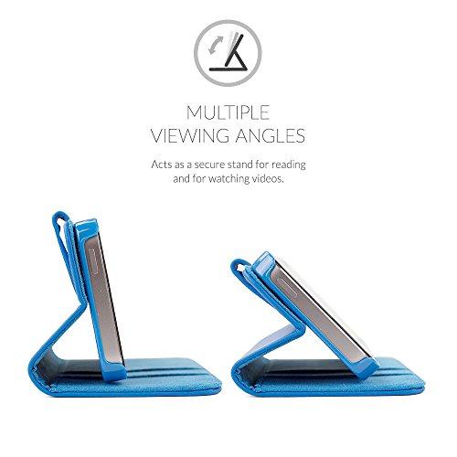 Cover iPhone SE, Snugg Apple iPhone SE Flip Custodia Case [Slot Per Schede] Pelle Portafoglio Progettazione Esecutiva [Garantita a Vita] - Cammello, Legacy Range Blu