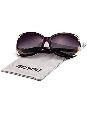 BOYOU La protección de las gafas de sol de moda las mujeres UV400